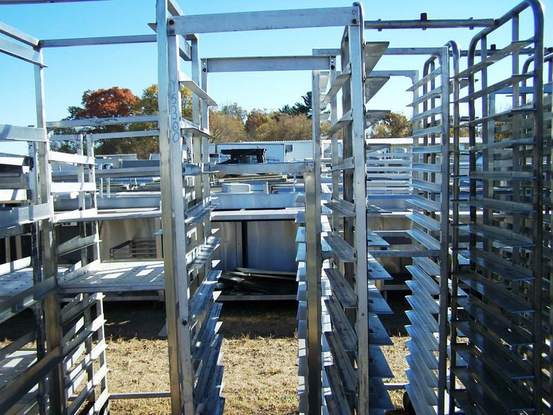FULL SIZE SHEET PAN RACK ON CASTERS 20.5 X 28 X 68